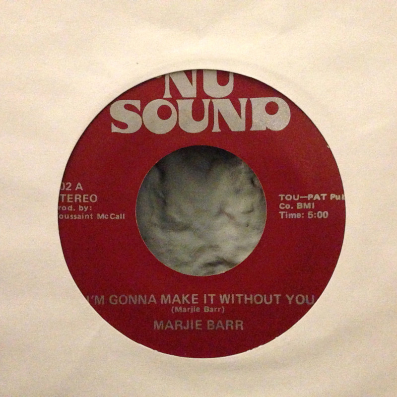 Marjie Barr I`m gonna make it without you / Many rivers to cross